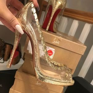 Christian Louboutin pumps, open toe size 35.5